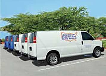 Fleet of American Fiberglass Tank Repair Vans